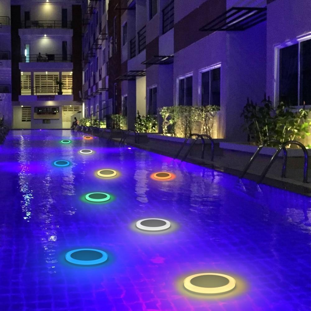 ao ar livre flutuante fonte piscina lâmpada
