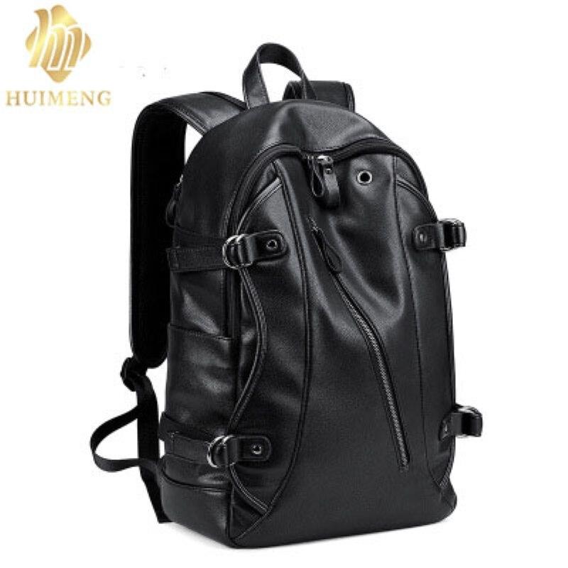 2017 waterproof PU bag 15.6 inch laptop backpack men leather backpacks for teenager Men Casual Daypacks mochila male Travel bag men backpack student school bag for teenager boys large capacity trip backpacks laptop backpack for 15 inches mochila masculina