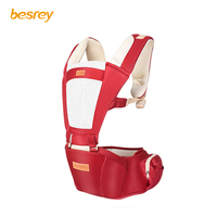 Besrey Adjustable 0 36M Ergonomic Baby Carriers Backpack Portable Baby Sling Wrap Cotton Infant Newborn Kangaroo Bag Hipseat