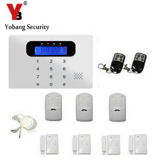 YobangSecurity Russian/Spanish/French /Italian/Czech Wireless Home Door Window Burglar Safety Security ALARM System Door Sensor safurance lcd wireless gsm home burglar alarm system motion door window sensor home security safety