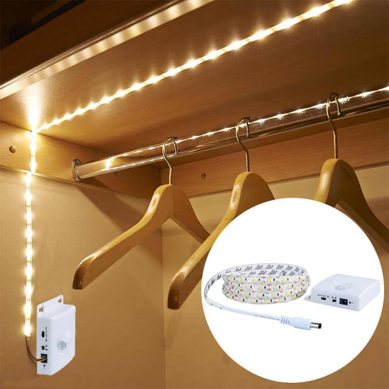 EeeToo PIR светильник с датчиком движения ночник USB светодиодный водонепроницаемый шкаф лестницы свет шкаф кухня украшение светильники