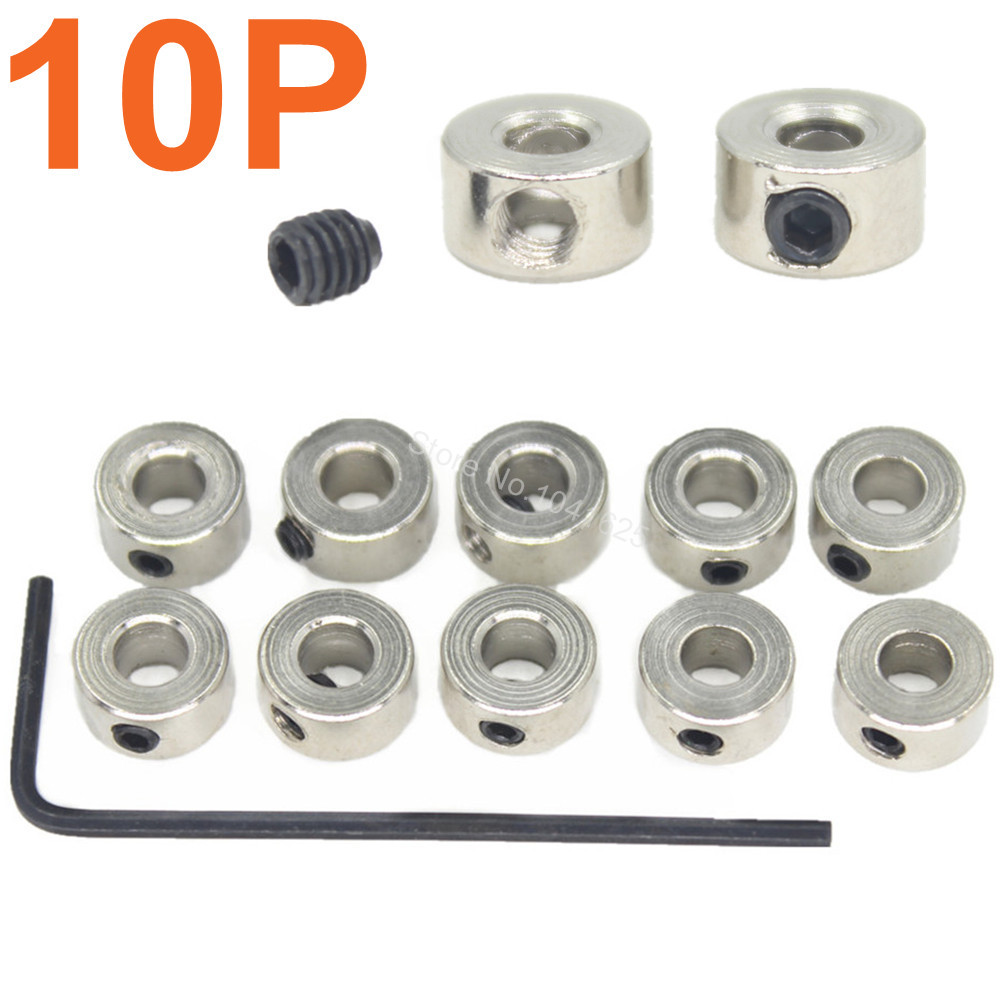 10 PCS RC Airplane Replacement Wheel Collars Landing Gear Stop Set 6x2 1mm 8x3 1mm 7x2