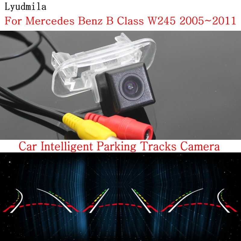 Lyudmila Car Intelligent Parking Tracks Camera FOR Mercedes Benz B Class W245 2005~2011 HD CCD Back up Reverse Rear View Camera lyudmila car intelligent parking tracks camera for mazda 6 mazda6 m6 sedan 2013 2017 hd car back up reverse rear view camera