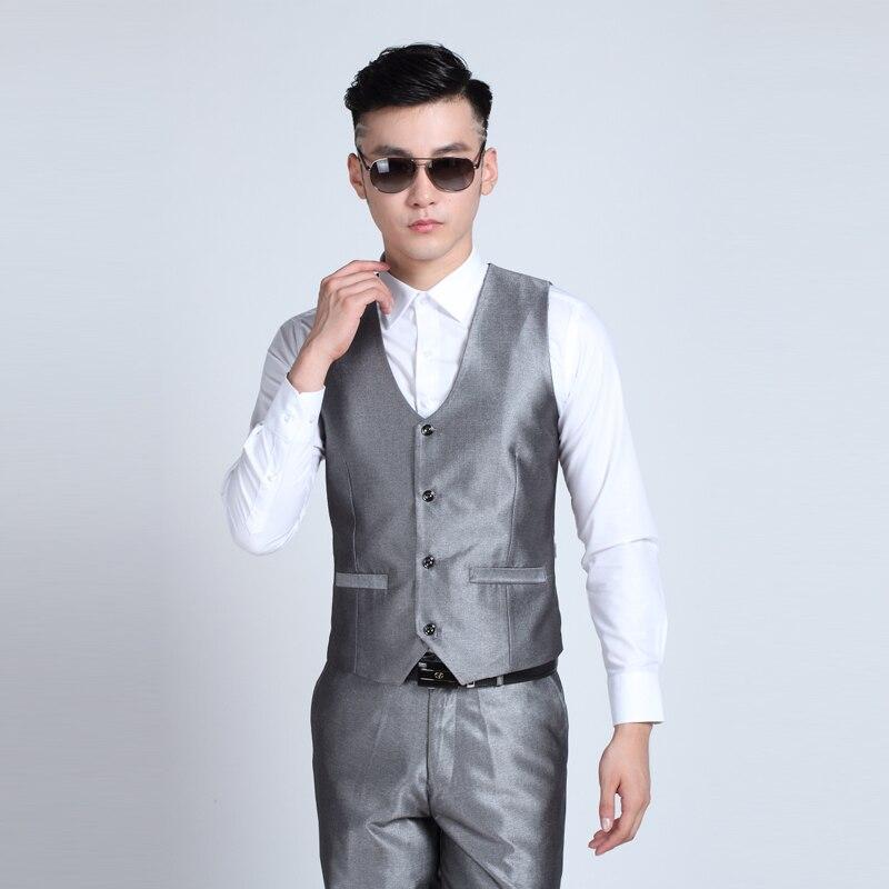 Suit Vest Men's New-Fashion V-Neck Slim 10-Color Available Leisure Korean