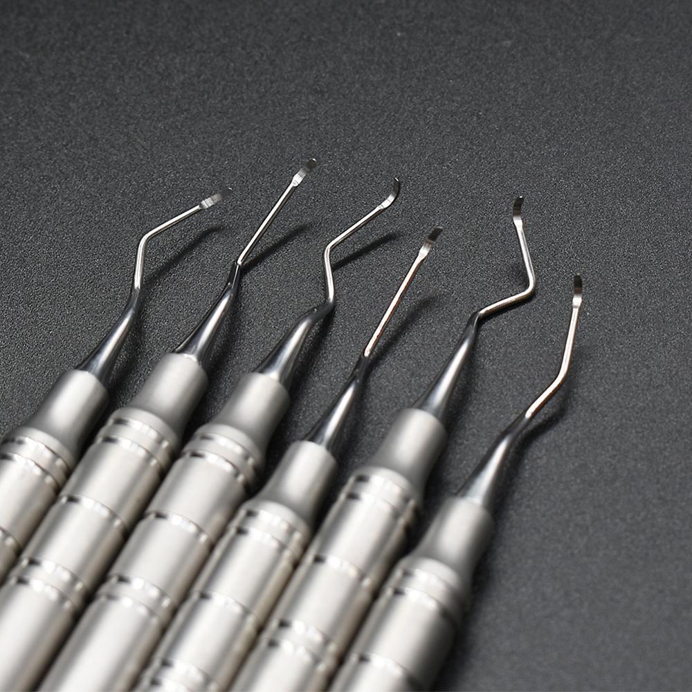 6 pcs Dental scaler scaling instrument dental lab equipment dentistry