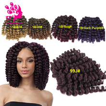 Synthetic Braiding Hair Crochet Box Braids Ombre Synthetic Wand Curl Curly Braiding Crochet Twist Hair Extension