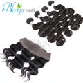 13x4 Pure Virgin Indian Human 4Bundles Hair With Lace Frontal Closure 7A Grade Body Wave Fast Shipping by DHL