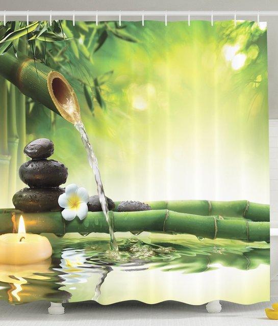 Mehltau Resistent Bad Zen Garten Thema Decor View Für Badezimmer Magische  Jasmin Blume Japanischen Design
