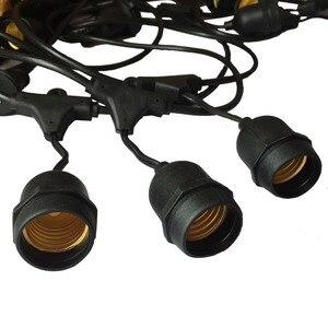Image 5 - IP65 في الهواء الطلق LED ضوء سلسلة 10 متر قياس كابل أسود مع 10 4 واط اديسون المصابيح الديكور المثالي لحديقة الفناء حفلة عيد الميلاد