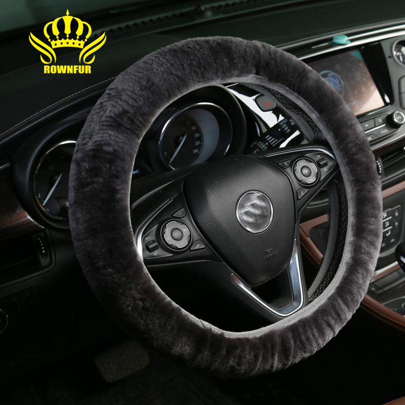 """natural sheepskin steering wheel steering wheel cover premium woolnatural sheepskin steering wheel steering wheel cover premium wool steering wheel cover universal fit 14\"""" 15 inch car styling in steering covers from"""