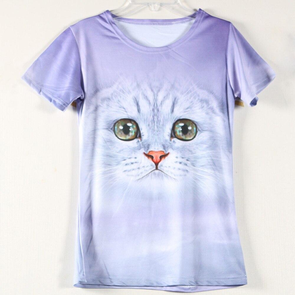 New Fashion Clothing Lovely Cat Girls T Shirt Design Funny 3D Dog