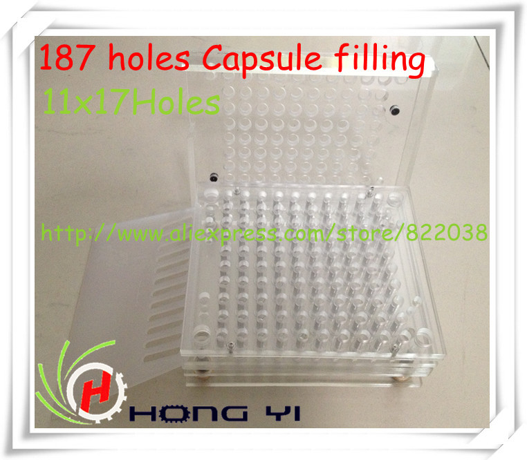 Free shipping 187 holes  Manual Capsule Filling Machine/Capsule Filler,can be customized for 00# 0# 1# 2# 3# 4# 5# size 1 bottle free shipping aloe softgel soft capsule improve the immunity