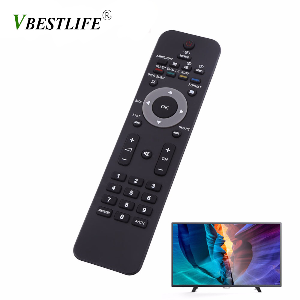 VBESTLIFE 433mhz Smart Remote Control Replacement For Philips 2422549018 LCD LED Smart TV Television IR Remote Control Universal