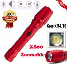 Cycling Bike Head Front Light Bicycle Light Super Bright X800 XML Zoomable Focus LED Flashlight Torch