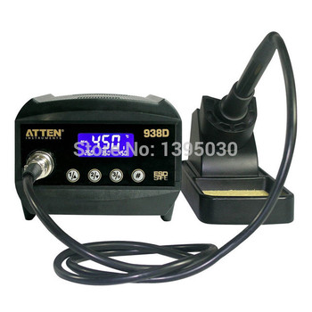 1PC Atten AT938D ESD  60W Digital Welding Desoldering Solder Station Solder Iron LCD Display Thermo-Control Anti-Static