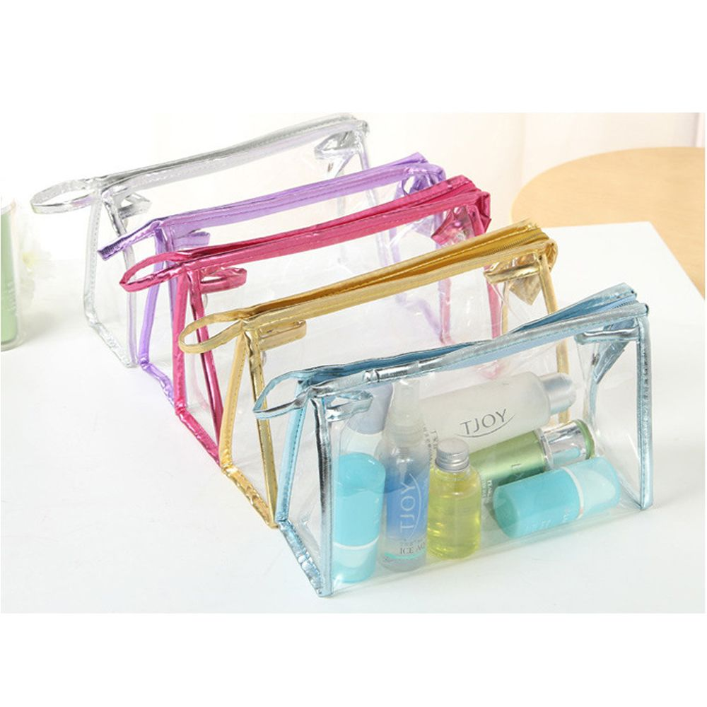 Casual Travel Cosmetic Bag Women Zipper Make Up Transparent Makeup Case Organizer Storag ...
