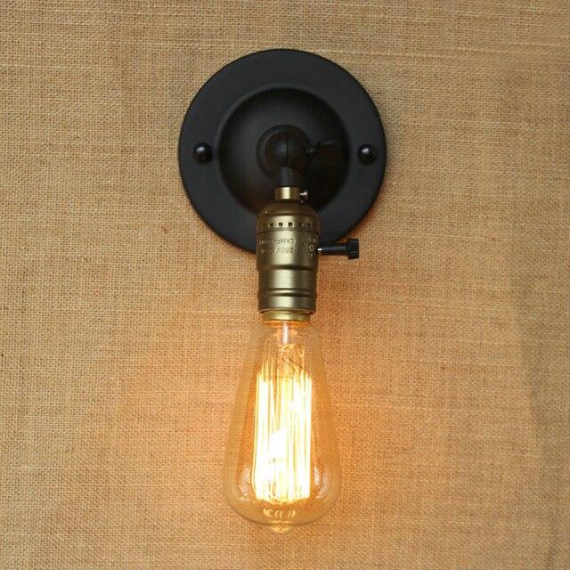simple rtro mur lampes avec bouton interrupteur e27 douille loft de style industriel antique appliques - Interrupteur Style Industriel