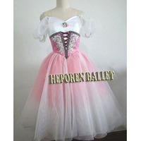 High Quality Customized Giselle Gradient Color Soft Ballet Dresses Nightgown Dress Coppelia Ballet Dress Retail Wholesale