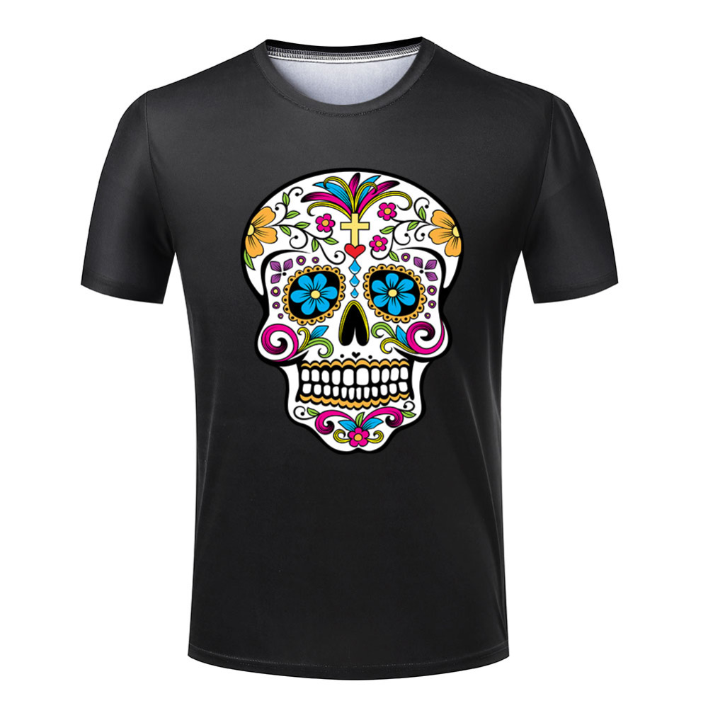 New cheap t shirt men mexican skull fashion round neck for Best affordable dress shirts