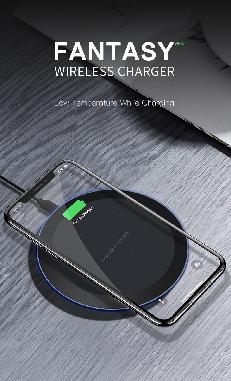 ESVNE 5W Qi Wireless Charger for iPhone X Xs MAX XR 8 plus Fast Charging for Samsung S8 S9 Plus Note 9 8 USB Phone Charger Pad-in Wireless Chargers from Cellphones & Telecommunications on Aliexpress.com | Alibaba Group 1