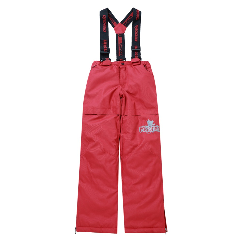Moomin 2018 New arrival boys winter overall strap polyester waterproof red overall boys snowsuit -20 degree warm winter pants overall figl overall