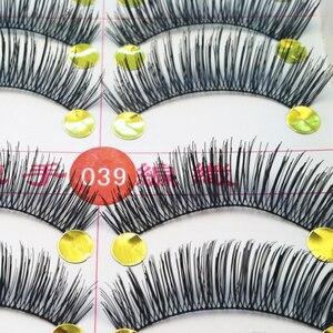 Image 3 - Hot Sale Natural False Eyelashes 100Pair Thick Eye Lashes Makeup Fake Eyelashes Extension Cilios Posticos Maquiagem Wimpers