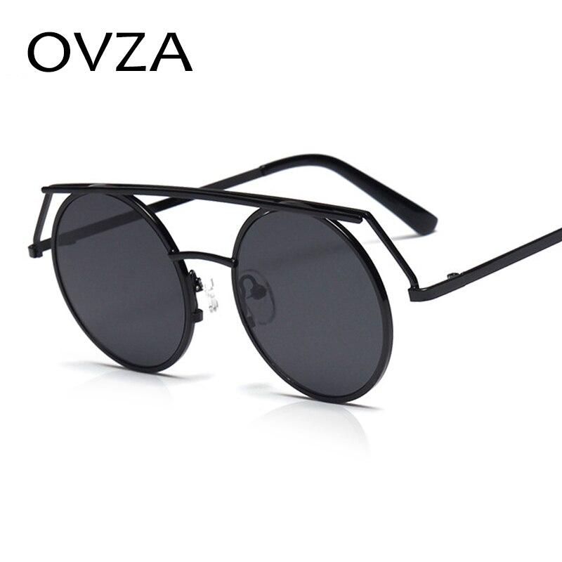 Ovza Personality font b Fashion b font Steampunk Sunglasses Men Retro Round font b Women b