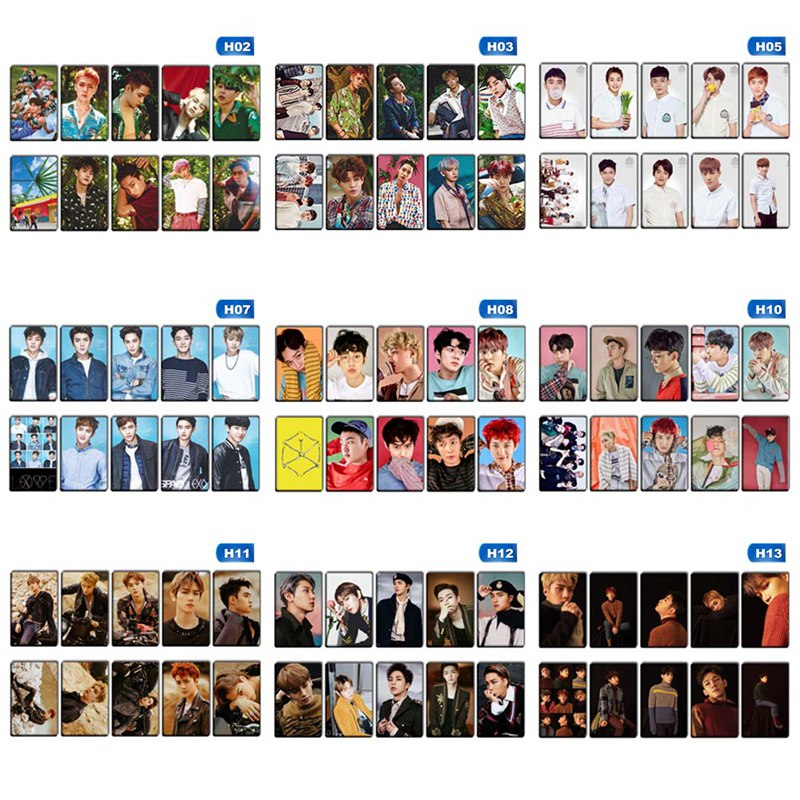 Smart Exo 9 Pieces Of Each Transparent Homemade Signature Card Mini-card Beads & Jewelry Making