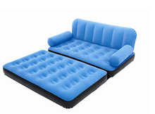 Inflatable sofa Couples new Four Seasons single foldaway portable inflatable sofabedfor 2 person come with inflatable