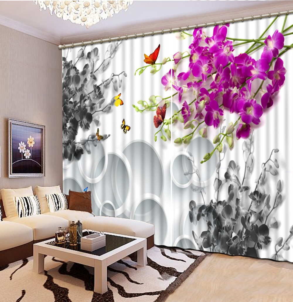 Home Bedroom Decoration Photo Custom Size 3D Curtain