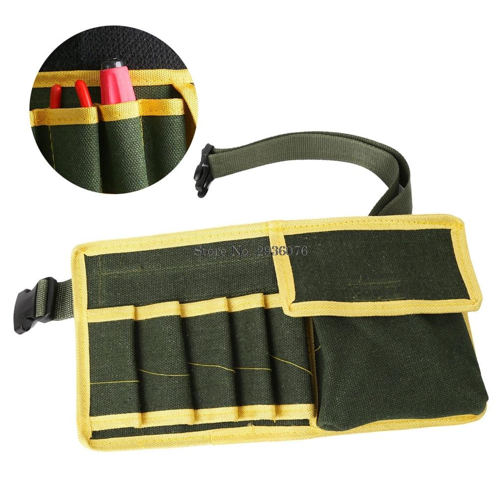 Multifunctional Canvas Tool Bags Pouch Holder Electrician Mechanic Waist Pack Belt