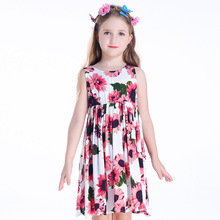 Children's Dresses New Girls'Dresses Printed Rural Children's Beach Dresses Holiday Wind Factory Direct Sales Spot children s dresses new girls dresses printed rural children s beach dresses holiday wind factory direct sales spot