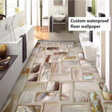 beibehang Customized classic waterproof non-slip papel de parede 3d wallpaper beach beach shell dolphin starfish floor painting