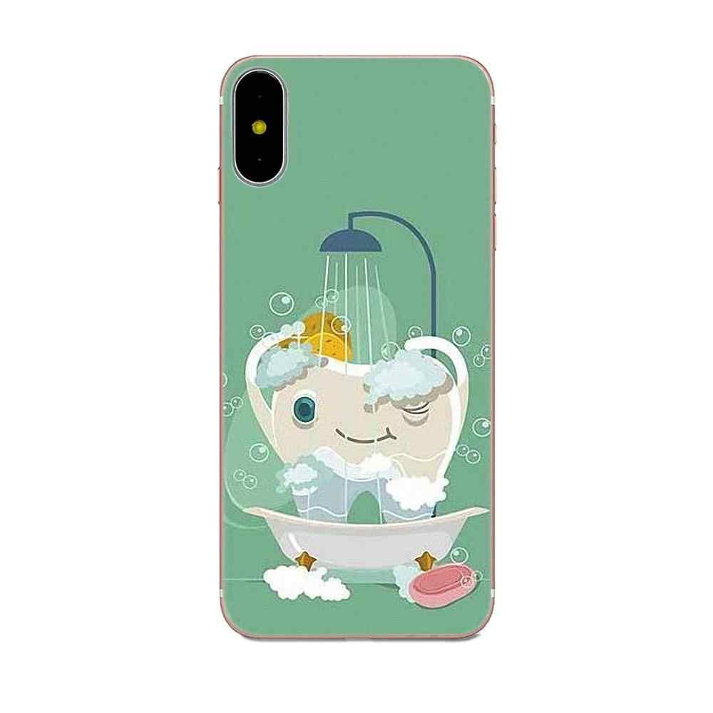 Implan Gigi Dokter Gigi Gigi Gigi Pola untuk Huawei P8 P9 P10 P20 P30 Mate 7 8 9 10 20 Lite plus Pro 2017 Dicat