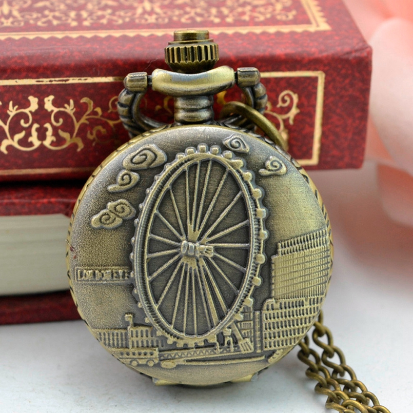 New Arrive Pocket Watch Vintage Bronze Tone Spider Web Design Chain Pendant Mens Pocket Watch Gift Dropship s2