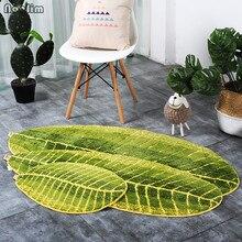NOOLIM Green Leaves Design Mat TPE Bath Mat Doormat Anti-sli
