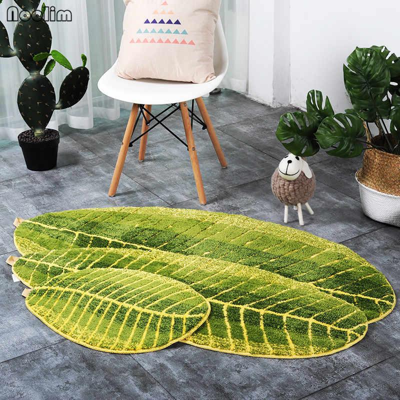 NOOLIM зеленые листья дизайнерский коврик TPE для ванной Дверной Коврик противоскользящий ковер для гостиной для кухни ванной спальни ковры