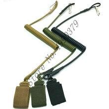 Adjustable Combat Tactical Pistol Hand Gun Secur Hand Gun Secure Lanyard Spring Strap Black Tan Army Green