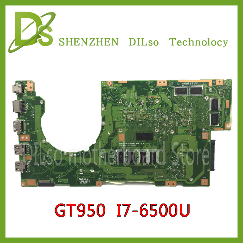 KEFU K501U For ASUS K501UX K501UB laptop motherboard K501UX mainboard rev2.0 i7 cpu with Graphics card 100% tested laptop motherboard mainboard for lenovo ibm thinkpad x201 63y2086 i7 640lm cpu with integrated graphics card 100% tested