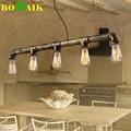 Retro Edison Bar/dining room /KTV Lighting Vintage Pendant Lights Water Pipe Pendant Lamp for Warehouse E27 Edison Bulbs Free