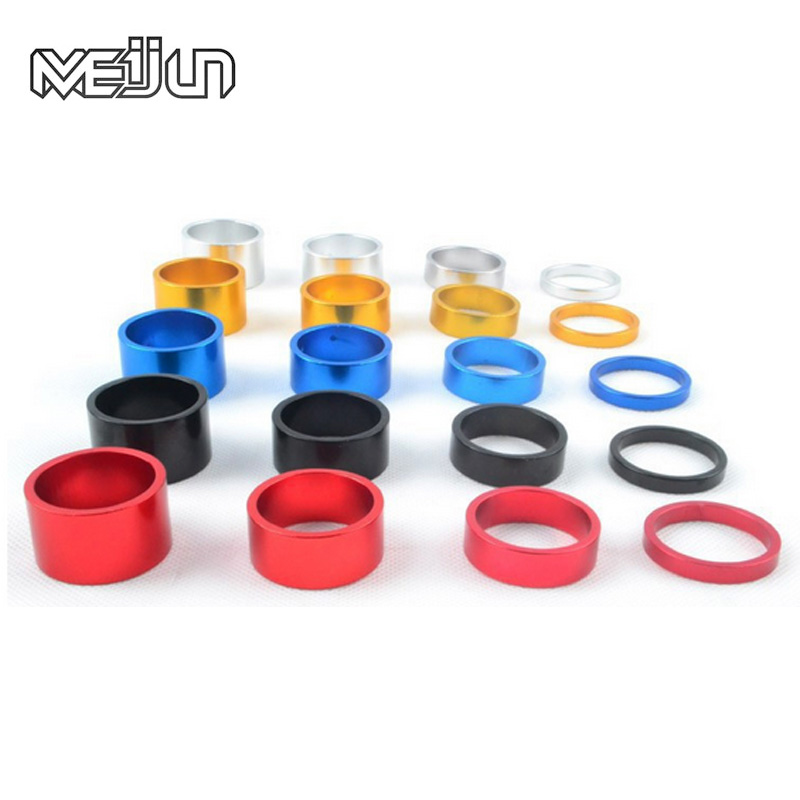 MEIJUN 4Pcs 5/10/15/20mm Aluminum Alloy Headset Stem Spacer MTB 28.6mm Fork Washer Cap For Road Bike Cycling