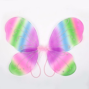 Image 4 - 42X31 センチメートルエルフ妖精の羽衣装翼蝶の羽供給衣装女の子クリスマスドレスアップパーティーコスプレ小道具妖精の羽