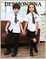 school uniform for boys and girls Contain long-sleeved and short-sleeved shirts and pants skirts Height 100-150CM 50