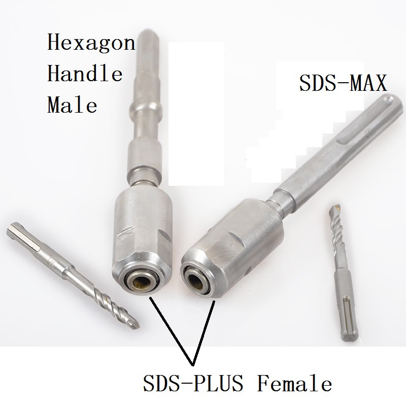 Adapter adaptor connector Hexagon handle male SDS MAX Female thread transmit to SDS PLUS for Bosch and more electric Hammer цены