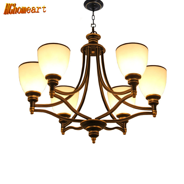 Hghomeart american chandelier led retro iron chandeliers living room hghomeart american chandelier led retro iron chandeliers living room bedroom restaurant lights nordic e27 lighting lamps mozeypictures Images