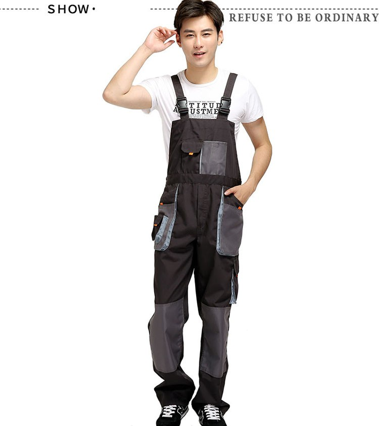 CCGK bib overalls men work coveralls protective repairman strap jumpsuits pants working uniforms plus size sleeveless coverall (10)