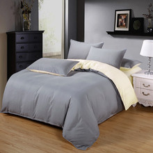 Gray and Beige Color Home Bedding bed linen 4PCS Bedding Set duvet set bed set  Covers bed linen Men/Women Brief style Bedcothes цена