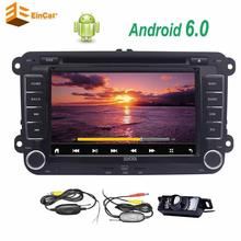Wireless rearview camera+7 inch Android 6.0 Double din car radio player DVD CD support FM Bluetooth with canbus