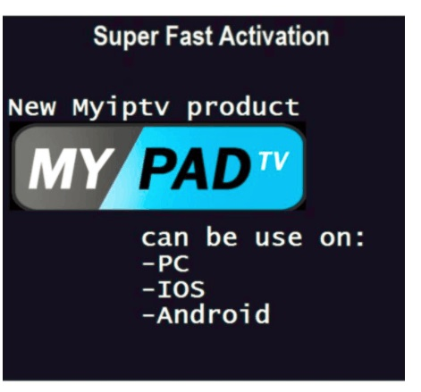 MYPADTV PINCODE subscription for Chinese hk tw singapore malaysia indonesia australia smart tv box
