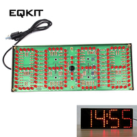 ECL 132 DIY Kit Red Supersized Screen Display Remote Control Clock Kit Accurate Eletronicos Digital Clock Timer